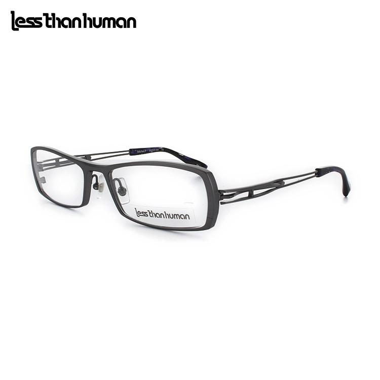 【送料無料】レスザンヒューマン MichelF 89-SI-PU 55サイズ シルバー メガネ 眼鏡 日本製 Lessthanhuman