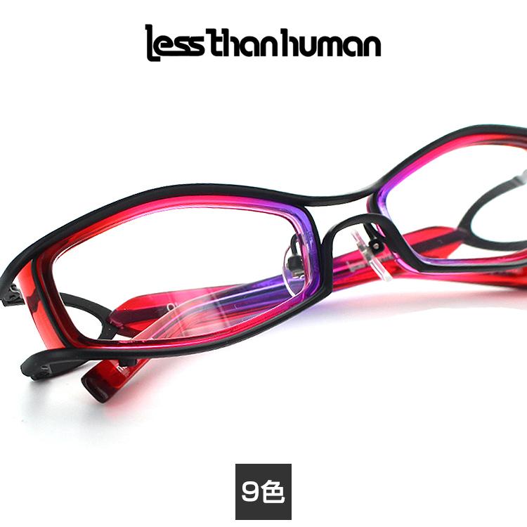 【送料無料】【正規品】レスザンヒューマン メガネフレーム Okaode 54サイズ Lessthanhuman 鼻パッド デザイン 個性 レディース 眼鏡フレーム めがねフレーム