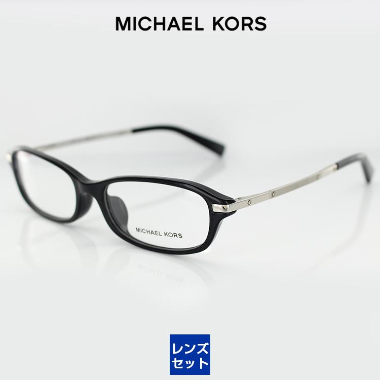 【送料無料】【レンズ付き】マイケルコース メガネフレーム UV420レンズ付き MK4002F 3005 54サイズ オーバル ブラック レディース 女性用 MICHAEL KORS 眼鏡 PCメガネ ブルーライトカット 度付き対応可
