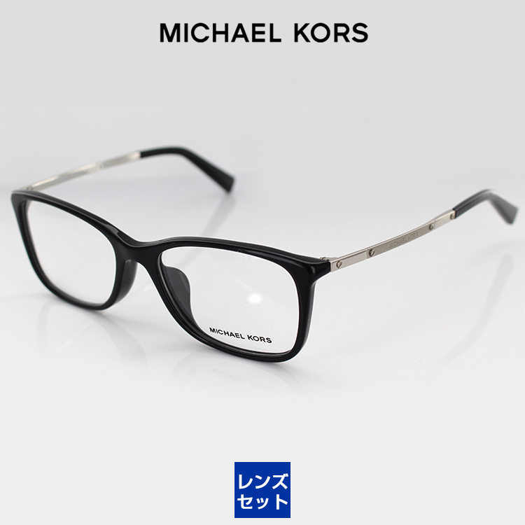 With the MICHAEL KORS glasses PC glasses blue light cut degree for the  MK4016F 3005 53 size butterfly black Lady's woman with the Michael Kors  glasses