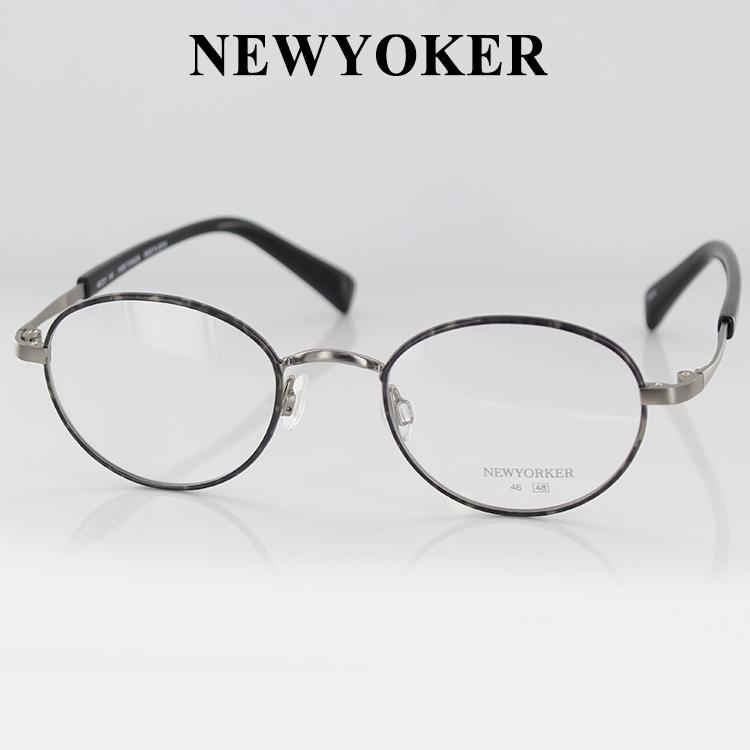 メガネフレーム ニューヨーカー ピュアチタン N6224 SA1S3 48サイズ オーバル ユニセックス 男女兼用 NEWYORKER 伊達メガネ 眼鏡 PCメガネ ブルーライトカット 度付き対応可 日本製 国内正規品 送料無料