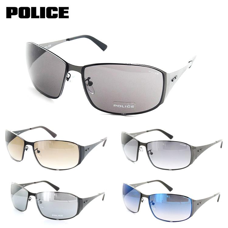 ポリス サングラス S-8985K 65サイズ マットガンメタ POLICE クール ワイルド カーブ 紫外線カット メンズ