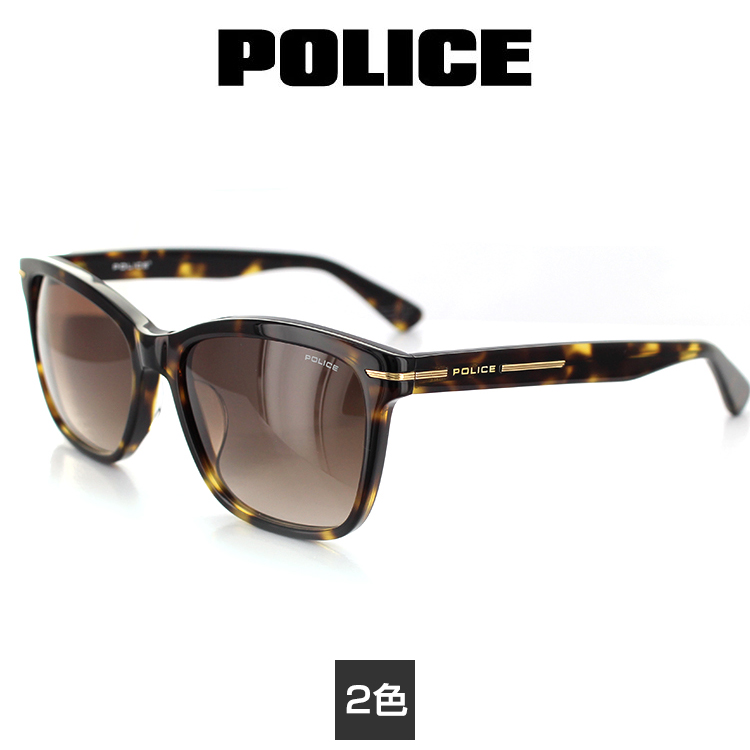 【送料無料】ポリス サングラス ミラーレンズ HIGHWAY4 SPL521J 55サイズ スクエア ネイビー ユニセックス 男女兼用 POLICE UVカット 【国内正規品】