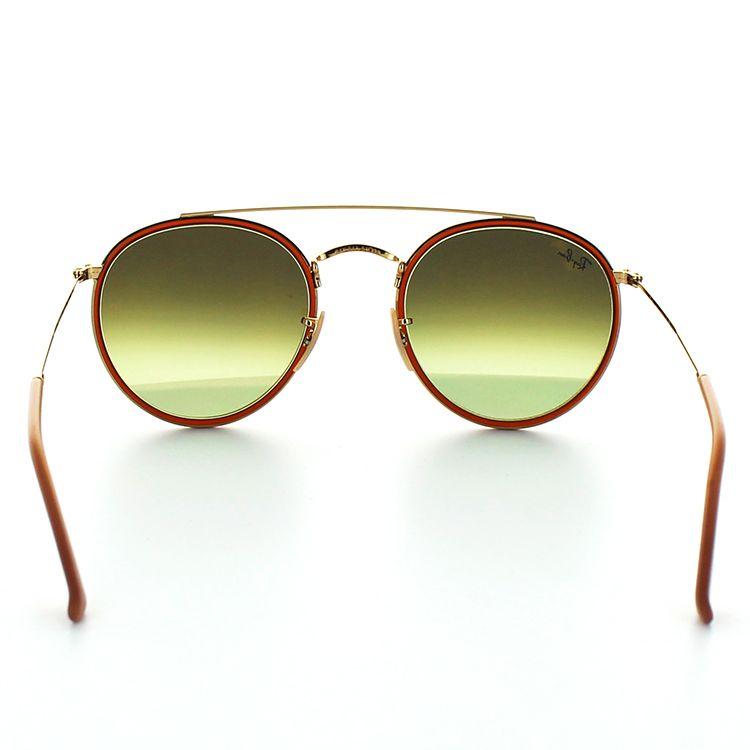 供雷斑太阳眼镜RB3647N 001/70 51尺寸Oval黄金棕色人男性使用的Ray-Ban RayBan