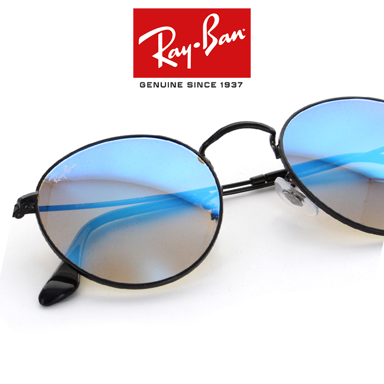 73216191c ○A product model number: RB3447 ○A front color: Black ○A temple color: Black  ○A lens color: Blue mirror gradation (14.4% of visible ray transmissivity)