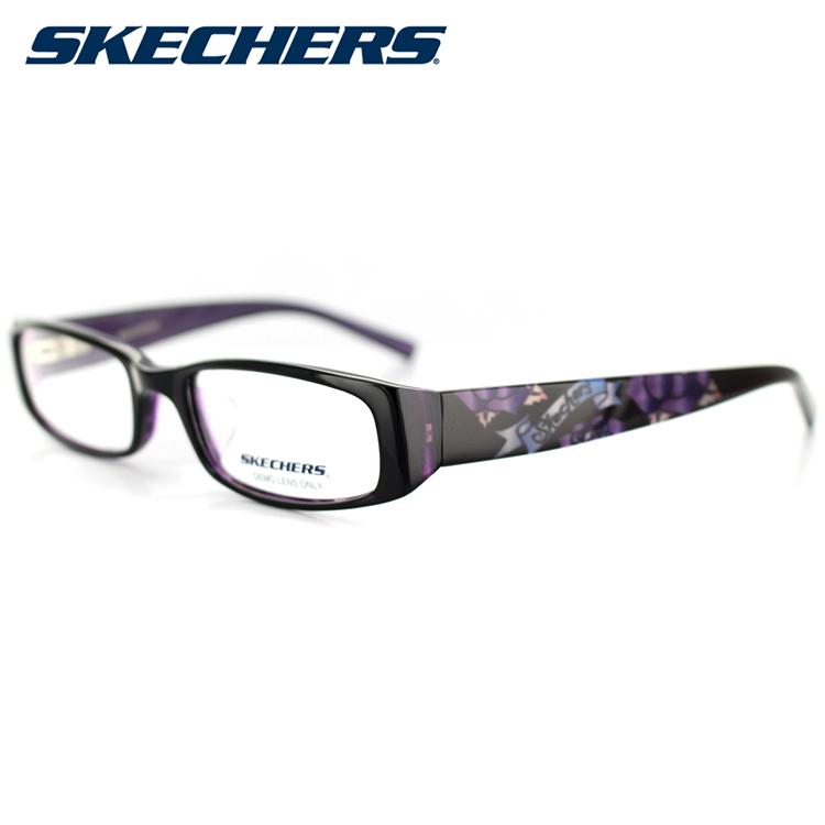 スケッチャーズ メガネフレーム SKA2014 BLKPUR 52サイズ スクエア ブラック ユニセックス 男女兼用 SKECHERS 眼鏡フレーム PCメガネ ブルーライトカットメガネ 度付き対応可