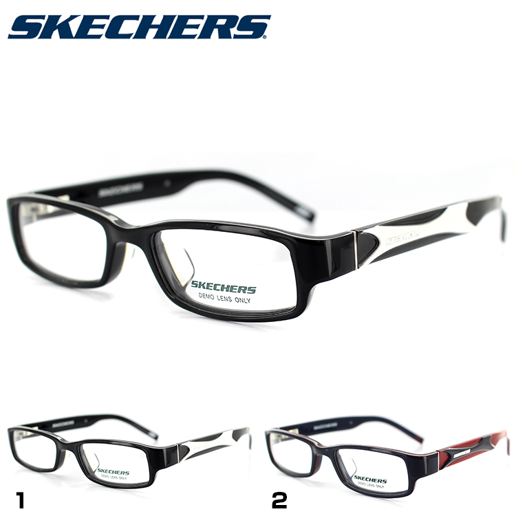 スケッチャーズ メガネフレーム SKA3020 BLKWHT 48サイズ スクエア ブラック ユニセックス 男女兼用 SKECHERS 眼鏡フレーム PCメガネ ブルーライトカットメガネ 度付き対応可