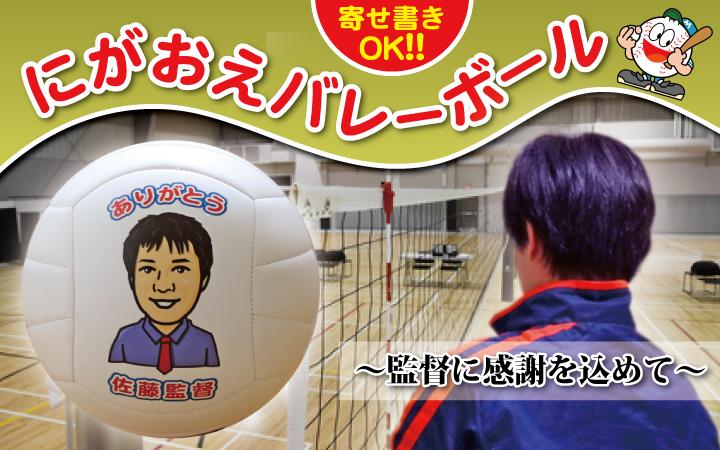 【似顔絵バレーボール】写真をもとに似顔絵を描いて、直径21cmのバレーボールにプリント!記念品に大人気楽ギフ_名入れP25Jan15