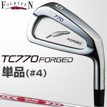 フォーティーン日本正規品TC770 FORGEDアイアンNSPRO MODUS3 TOUR105スチールシャフト単品(I#4)