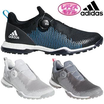 【【最大3000円OFFクーポン】】adidas Golf(アディダスゴルフ) 日本正規品 W FORGEFIBER BOA(ウィメンズフォージファイバーボア) スパイクレスゴルフシューズ 2019新製品 「BTF19」 レディスモデル 【あす楽対応】