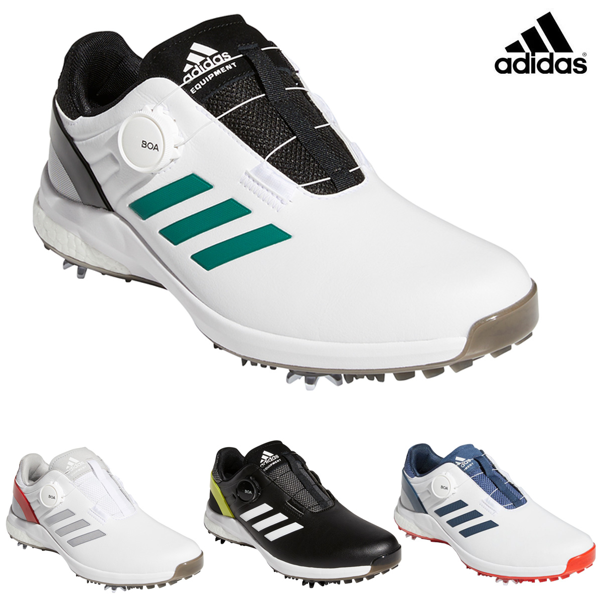 高いクオリティとパフォーマンス 新着 adidas Golf アディダスゴルフ 日本正規品 ソフトスパイクゴルフシューズ KZK48 EQTボア 新作 大人気 2021新製品 あす楽対応