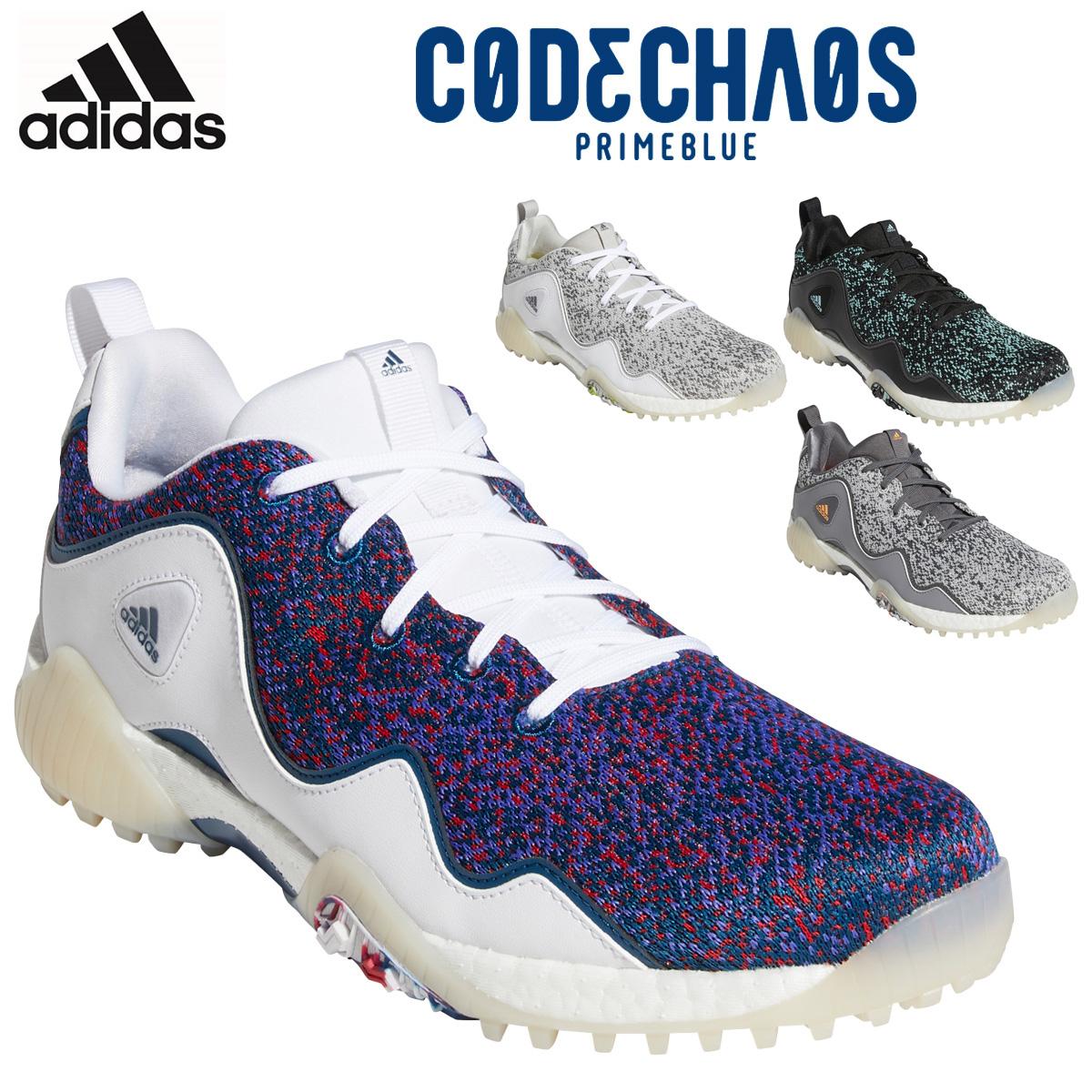 異次元 持続る adidas Golf アディダスゴルフ 日本正規品 CODECHAOS コードカオスプライムブルー KZI12 PRIMEBLUE スパイクレスゴルフシューズ 2021新製品 21 出色 あす楽対応 人気商品