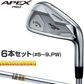 【カスタムクラブ】 Callaway(キャロウェイ)日本正規品 APEX PROアイアン 2019新製品 ダイナミックゴールドスチールシャフト 6本セット(#5~9、PW)