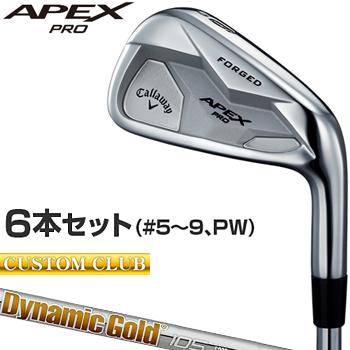 【カスタムクラブ】 Callaway(キャロウェイ)日本正規品 APEX PROアイアン 2019新製品 ダイナミックゴールド105スチールシャフト 6本セット(#5~9、PW)