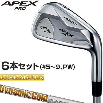 【カスタムクラブ】 Callaway(キャロウェイ)日本正規品 APEX PROアイアン 2019新製品 ダイナミックゴールド120スチールシャフト 6本セット(#5~9、PW)