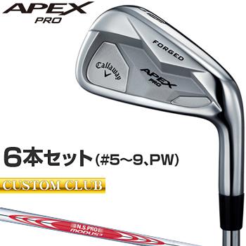 【カスタムクラブ】 Callaway(キャロウェイ)日本正規品 APEX PROアイアン 2019新製品 NSPRO MODUS3 Tour120スチールシャフト 6本セット(#5~9、PW)