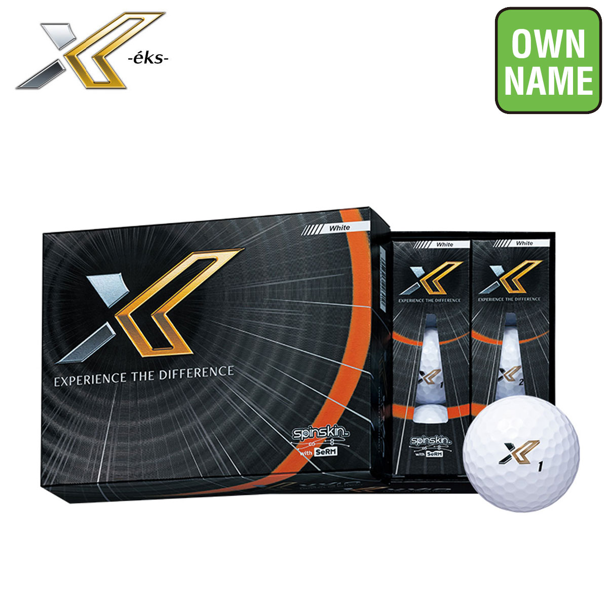【オリジナルオンネーム3色使用】DUNLOP(ダンロップ)日本正規品 XXIO X-eks-(ゼクシオエックス) 2020新製品 ゴルフボール3ダース(36個入り)