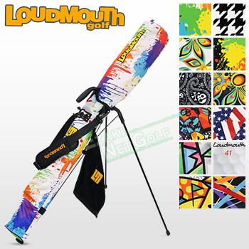 【3月30日 20時~4h限定10倍】LOUDMOUTH GOLF (ラウドマウス ゴルフ)日本正規品 セルフスタンドキャリーバッグ フック付きタオル付き 2018モデル 「LM-CC0003」 【あす楽対応】