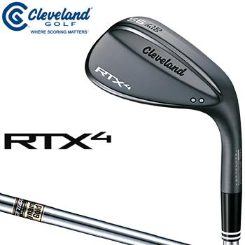 【3月30日 20時~4h限定10倍】クリーブランドゴルフ日本正規品 RTX4 ウェッジ ブラックサテン仕上げ ダイナミックゴールドスチールシャフト 2018モデル 「RTX4BBSDG」 【あす楽対応】