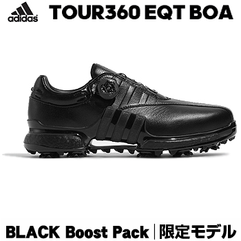 【3月30日 20時~4h限定10倍】【限定モデル】アディダスゴルフ日本正規品TOUR360 EQT Boa BLACK Boost Packソフトスパイクゴルフシューズ 2018モデル 「WI975」【あす楽対応】
