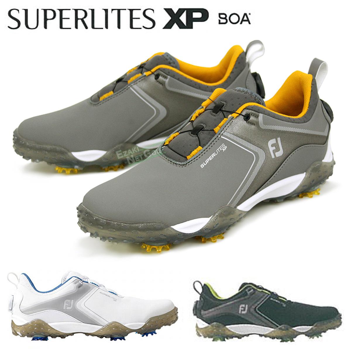 動きやすさ 快適性を追求 FOOTJOY フットジョイ 買い物 与え 日本正規品 SUPERLITES あす楽対応 ソフトスパイクメンズゴルフシューズ 2021新製品 スーパーライトエックスピーボア XP BOA