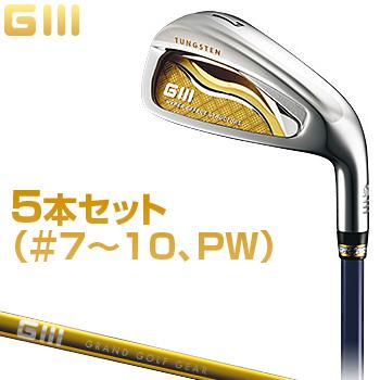 GLOBERIDE(グローブライド)日本正規品G3(ジースリー)アイアンSVF LITE FM-415Iカーボンシャフト5本セット(#7~10、PW)