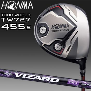HONMA GOLF本間ゴルフ日本正規品TOUR WORLD(ツアーワールド)TW727 455sW-FORGEDドライバー(455cc)VIZARD YZカーボンシャフト【あす楽対応】