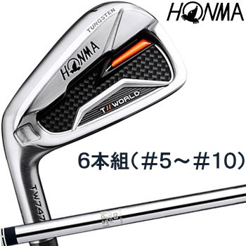 【【最大4999円OFFクーポン】】HONMA GOLF(本間ゴルフ) 日本正規品 TOUR WORLD(ツアーワールド) TW747 P アイアン 2019モデル N.S.PRO950GHスチールシャフト 6本セット(I#5-I#10) ※レフトハンドモデル(左用)※