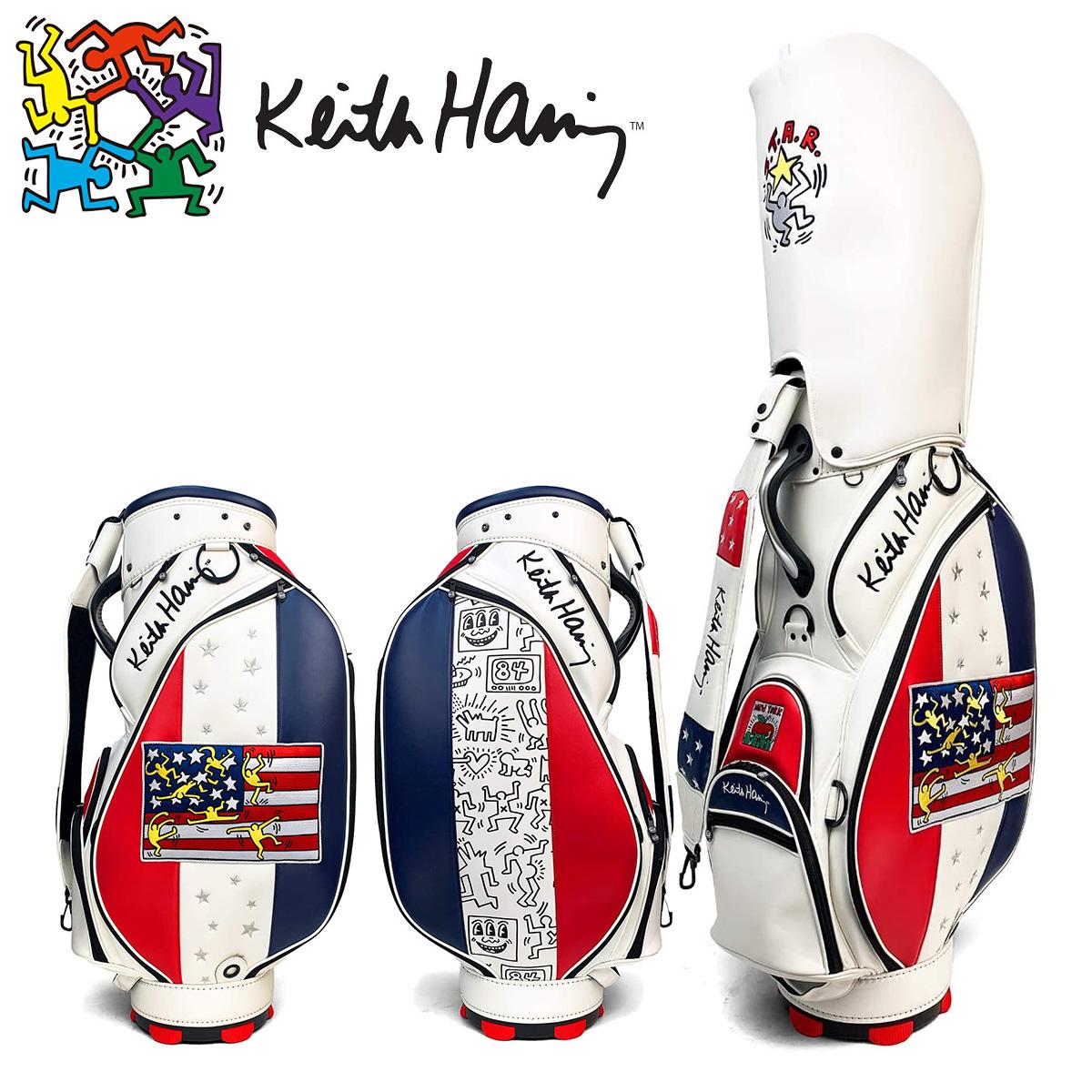【【最大3300円OFFクーポン】】Keith Haring (キース ヘリング) ゴルフ シグネチャー キャディバッグ American flag × Pattern 2020新製品 「KHCB-04」 【あす楽対応】
