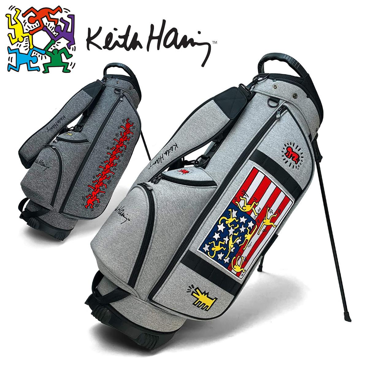 【【最大4999円OFFクーポン】】Keith Haring (キース ヘリング) ゴルフ スタンド キャディバッグ 2020新製品 スタンドバッグ 「KHCB-05」 【あす楽対応】