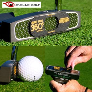 即納 EYELINE GOLF アイラインゴルフ SWEET SPOT スイートスポット360 ELG-SS31 3個入り あす楽対応 360 ゴルフパター練習用品 超激安特価 爆安プライス
