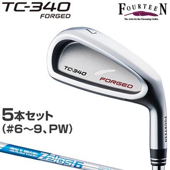 FOURTEEN(フォーティーン)日本正規品 TC-340 FORGEDアイアン NSPRO Zelos6スチールシャフト 2018モデル 5本セット(#6~9、P)