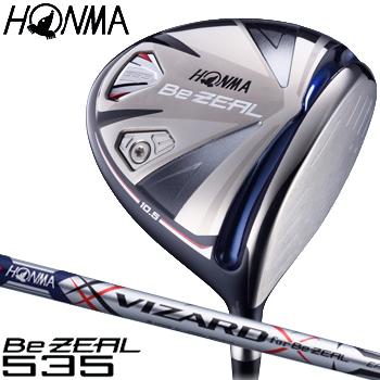 HONMA GOLF(本間ゴルフ)日本正規品 Be ZEAL535(ビジール535) ドライバー 2018モデル VIZARD for Be ZEALカーボンシャフト 【あす楽対応】