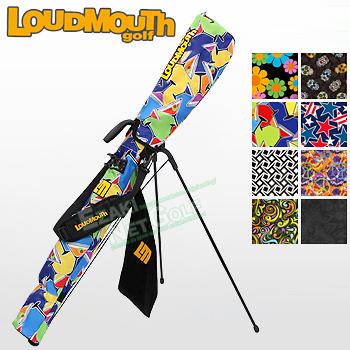 LOUDMOUTH GOLF (ラウドマウス ゴルフ)日本正規品 セルフスタンドキャリーバッグ フック付きタオル付き 2018モデル 「LM-CC0003」 【あす楽対応】
