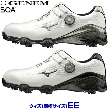 【2E】ミズノゴルフ日本正規品 GENEM009 BOA(ジェネムボア) ソフトスパイクゴルフシューズ 2019新製品 「51GP1900」 【あす楽対応】