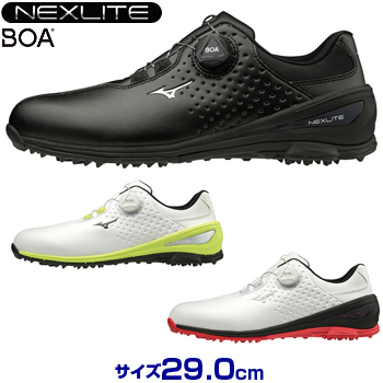 【3E(サイズ29.0cm)】ミズノゴルフ日本正規品 NEXLITE006 BOA(ネクスライトボア) スパイクレスゴルフシューズ 2019モデル 「51GM1920」 【あす楽対応】