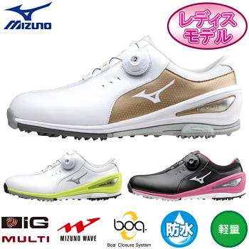 MIZUNO(ミズノ)日本正規品NEXLITE002 Boa(W)(ネクスライト002ボア)スパイクレスゴルフシューズ「51GW1526」※レディスモデル※