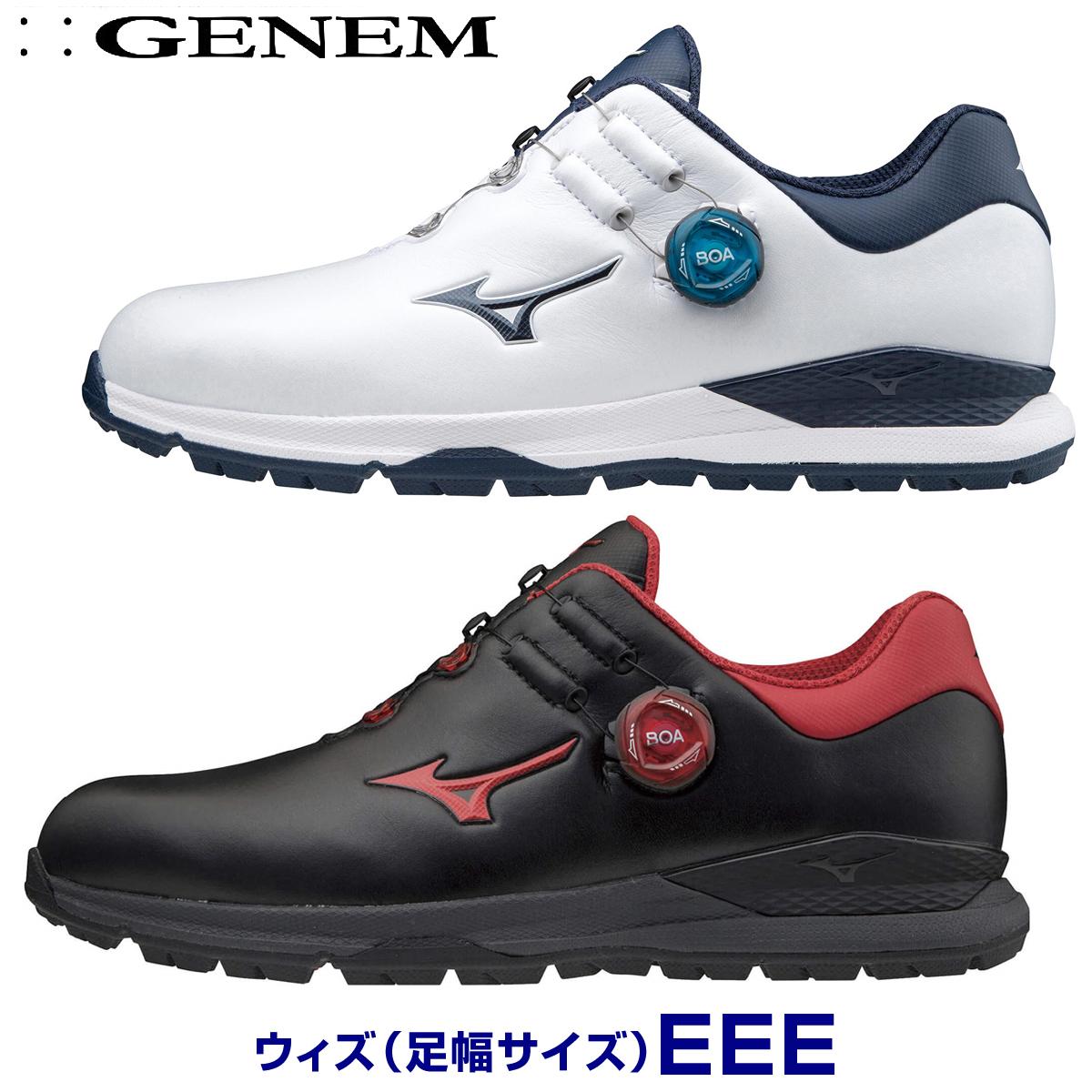 【3E】MIZUNO(ミズノゴルフ)日本正規品 GENEM010 BOA(ジェネムボア) スパイクレスゴルフシューズ 2020新製品 「51GM2000」 【あす楽対応】