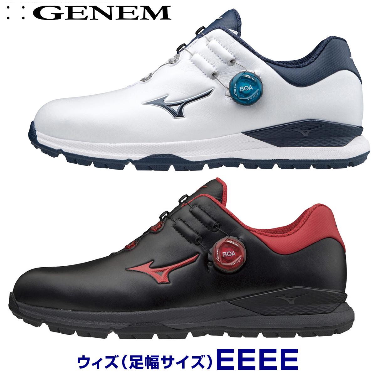 【【最大4999円OFFクーポン】】【4E】MIZUNO(ミズノゴルフ)日本正規品 GENEM010 BOA(ジェネムボア) スパイクレスゴルフシューズ 2020新製品 「51GQ2000」 【あす楽対応】