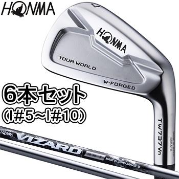 HONMA GOLF 本間ゴルフ日本正規品 TOUR WORLD(ツアーワールド) TW737 Vnハーフキャビティアイアン VIZARD IB95カーボンシャフト 6本セット(I#5~I#10)【あす楽対応】