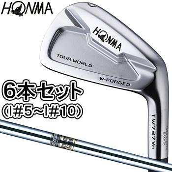 HONMA GOLF 本間ゴルフ日本正規品 TOUR WORLD(ツアーワールド) TW737 Vn ハーフキャビティアイアン ダイナミックゴールドスチールシャフト 6本セット(I#5~I#10)【あす楽対応】