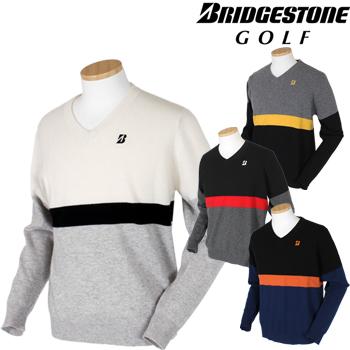 BridgestoneGolf ブリヂストンゴルフ 秋冬ウエア Vネックセーター EGM13B ビッグサイズ(3L) 【あす楽対応】