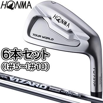 【3月30日 20時~4h限定10倍】HONMA GOLF 本間ゴルフ日本正規品 TOUR WORLD(ツアーワールド) TW737 P ポケットキャビティアイアン VIZARD IB85カーボンシャフト6本セット(I#5~I#10)【あす楽対応】