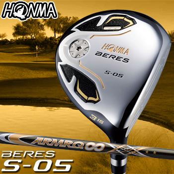 HONMA GOLF本間ゴルフ日本正規品BERES(ベレス)S-05 2SグレードフェアウェイウッドARMRQ∞48カーボンシャフト