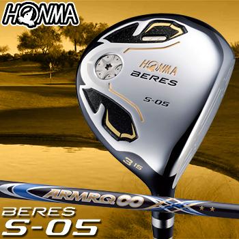 HONMA GOLF本間ゴルフ日本正規品BERES(ベレス)S-05 2SグレードフェアウェイウッドARMRQ∞53カーボンシャフト