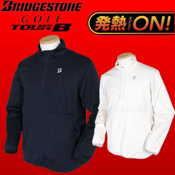 BridgestoneGolf TOUR B (ブリヂストンゴルフ ツアービー) 秋冬ウエア 電熱線入りハーフジップブルゾン 57G91Dビッグサイズ(3L)【あす楽対応】