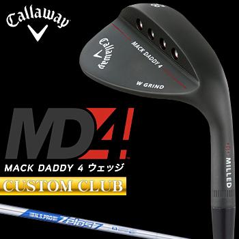【カスタムクラブ】 Callaway(キャロウェイ)日本正規品 MACK DADDY4 マックダディウェッジ マットブラック仕上げ 2018モデル NSPRO ZELOS7スチールシャフト