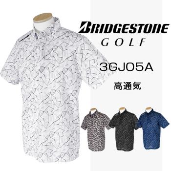 BridgestoneGolfブリヂストンゴルフウエア 半袖ボタンダウンシャツ 2018春夏モデル 3GJ05A 【あす楽対応】