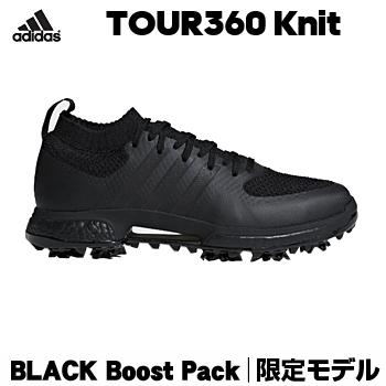 【3月30日 20時~4h限定10倍】【限定モデル】アディダスゴルフ日本正規品TOUR360 Knit BLACK Boost Pack ツアー360ニット ブラックブーストパック ソフトスパイクゴルフシューズ 2018モデル 「AQM91」【あす楽対応】