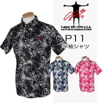 【【楽天CARD&エントリーで最大P12倍】】T-MAC GOLF ティーマック 春夏ウエア 半袖シャツ P11 【あす楽対応】